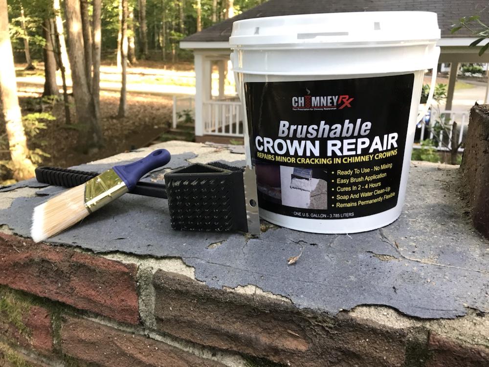Chimney RX - Brushable Crown Repair, BBQ brush, Paint brush