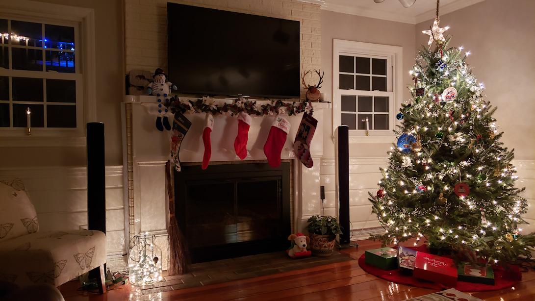 Fireplace and Christmas tree